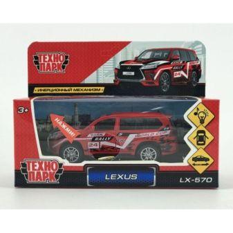"""Машина металл свет-звук """"LEXUS LX-570 СПОРТ""""12см, открыв. двери, инерц.в кор. Технопарк в кор.2*36шт"""