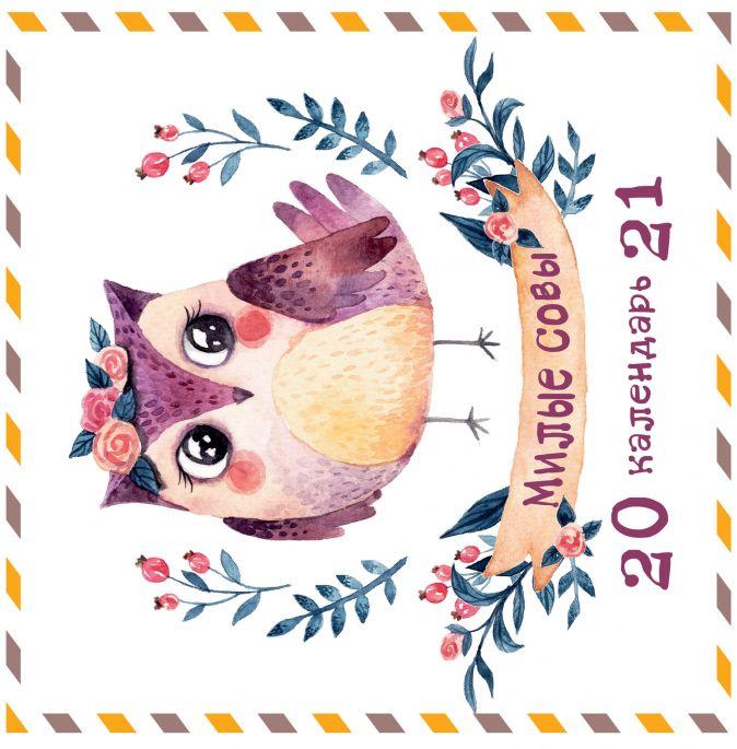 Настенный календарь на 2021 год «Милые совы», 30х30 см