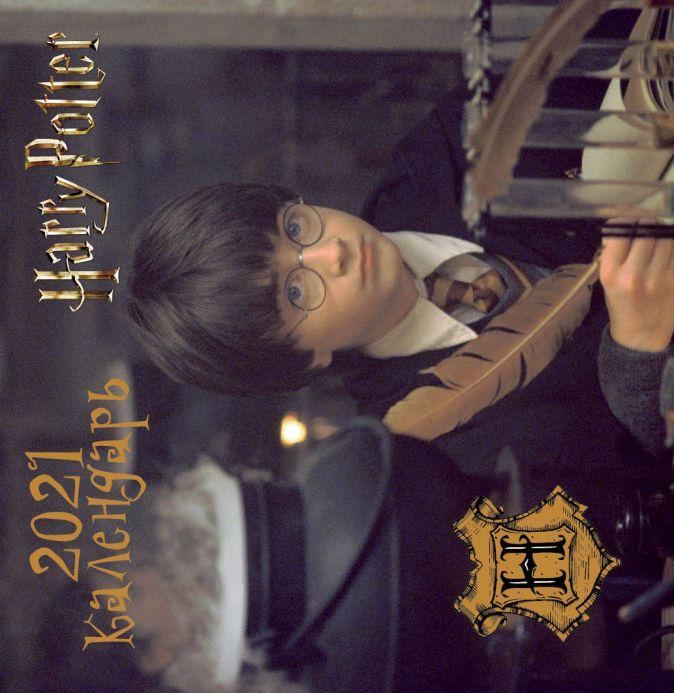 Настенный календарь на 2021 год «Гарри Поттер», 17х17 см