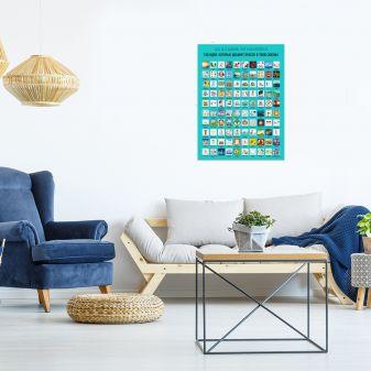 Плакат со скретч-слоем. 100 идей, которые добавят красок в твою жизнь!