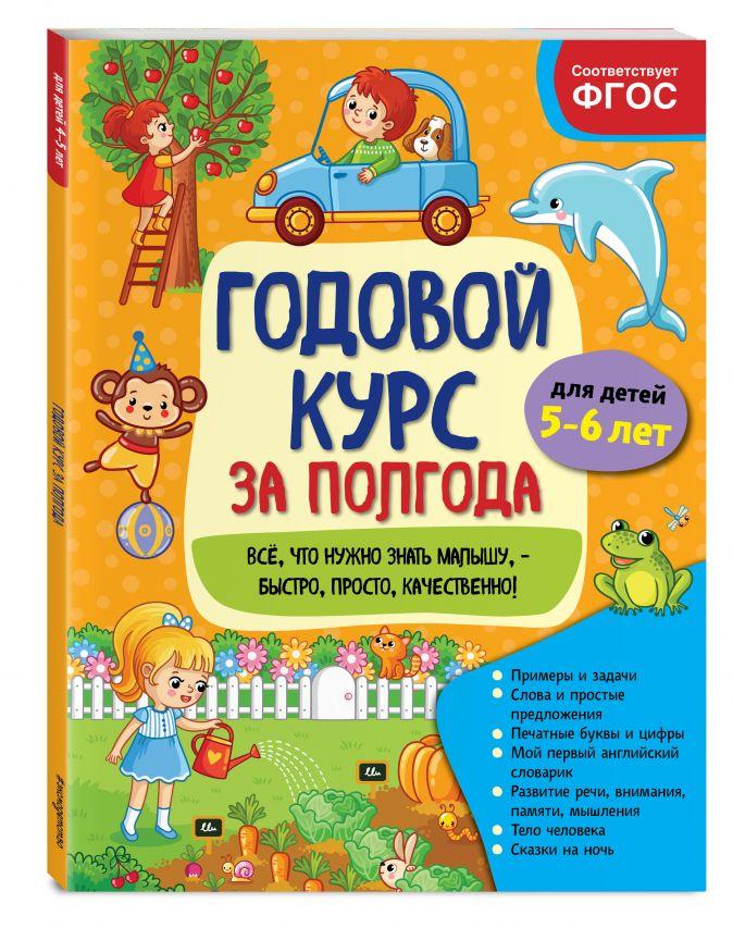 А. М. Горохова - Годовой курс за полгода: для детей 5-6 лет обложка книги