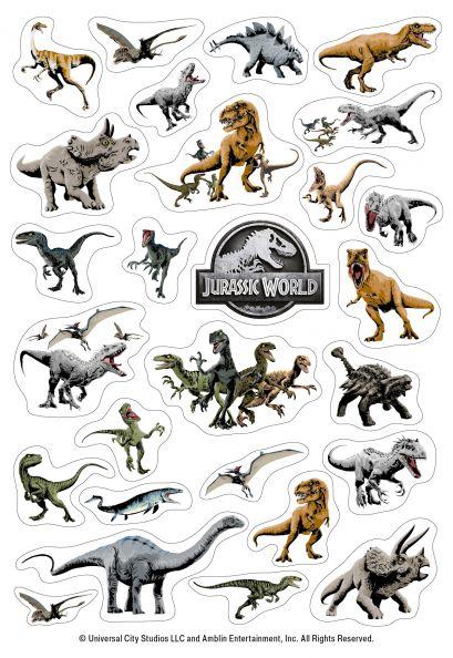 Динозавры Jurassic World. Набор наклеек (формат А5, в пакете) - фото 1