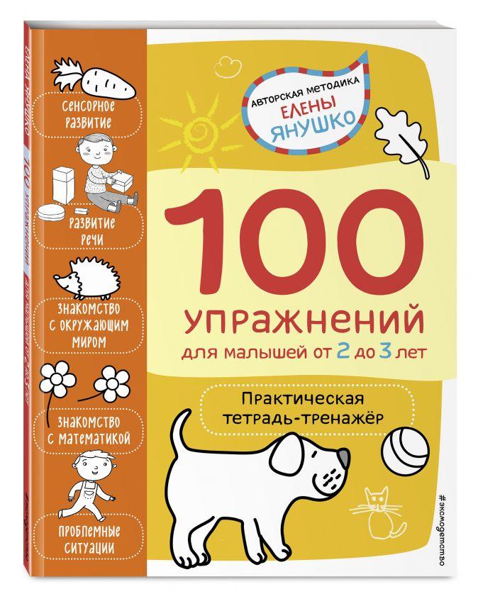Янушко Е.А. - 2+ 100 упражнений для малышей от 2 до 3 лет. Практическая тетрадь-тренажёр обложка книги