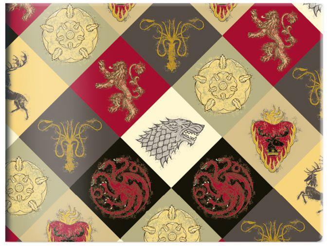 Кардхолдер в форме книжки «Игра Престолов. Гербы домов»