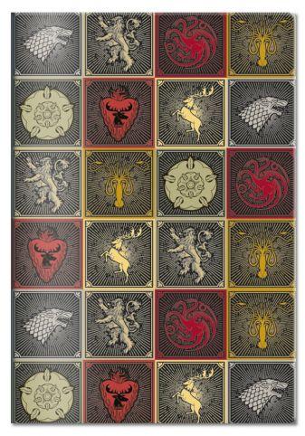 Обложка для паспорта «Игра Престолов. Гербы домов», черная