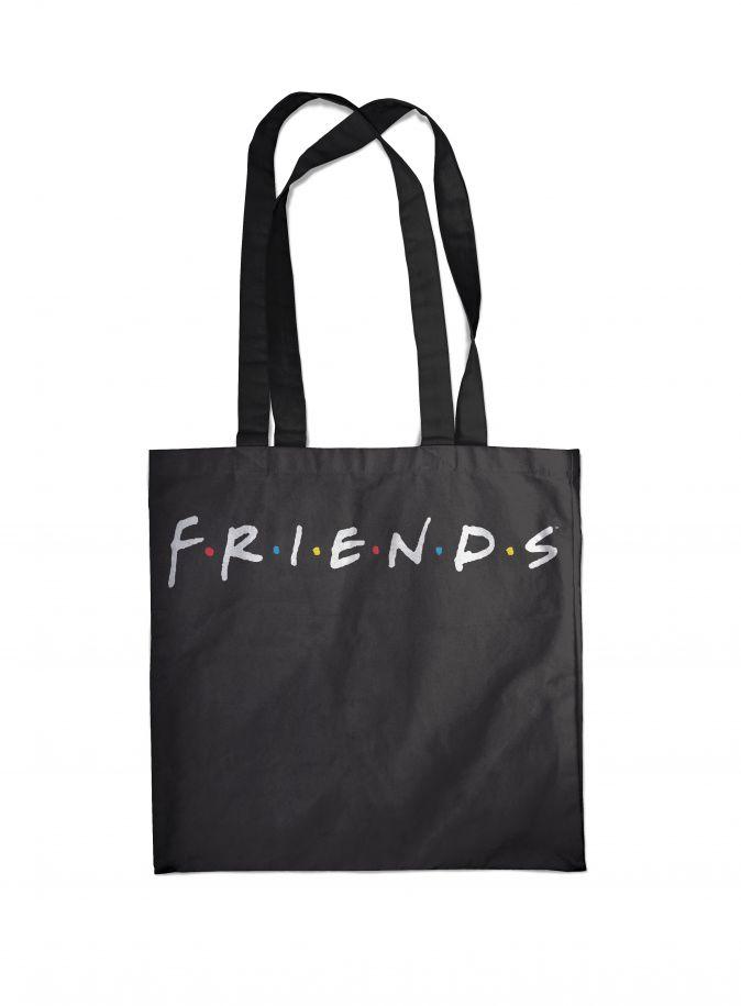 Сумка. Friends (черная, 38х43 см, длина ручек 58 см)