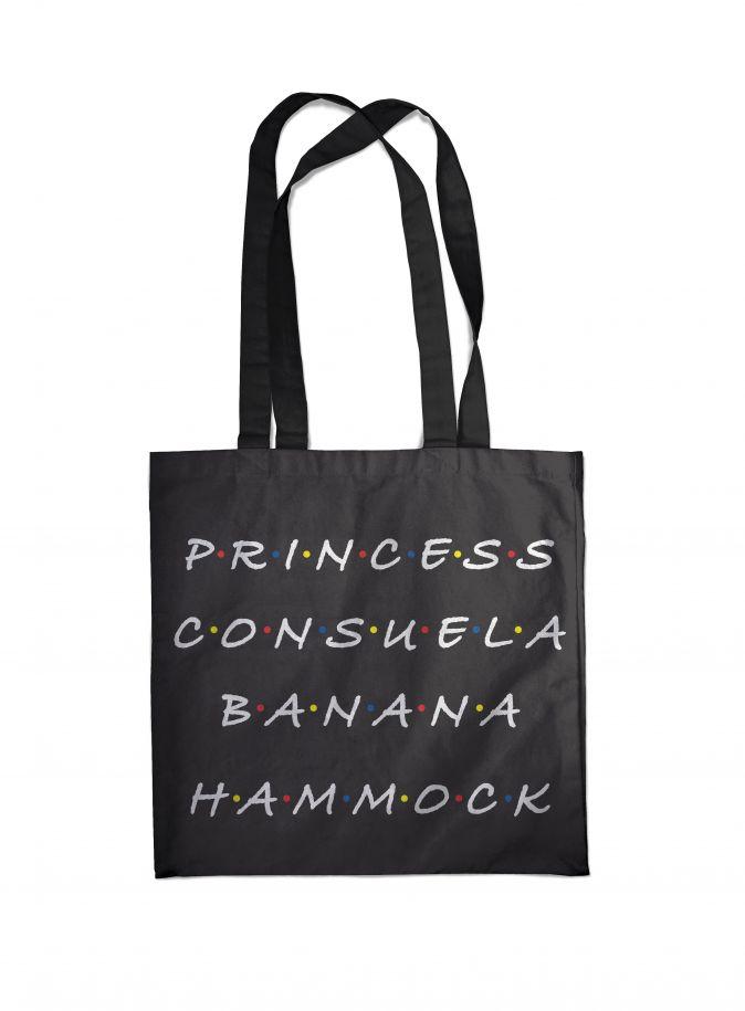Сумка. Friends. Princess Consuela Banana-Hammock (черная, 38х43 см, длина ручек 58 см)