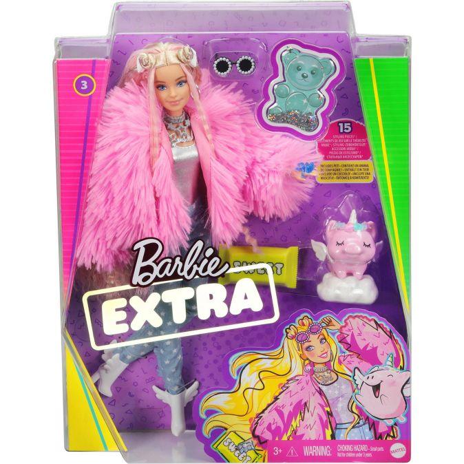 Barbie®  Экстра - Кукла в розовой куртке