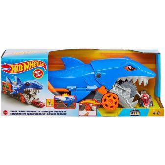 Hot Wheels Машинки Грузовик Голодная акула с хранилищем для машинок