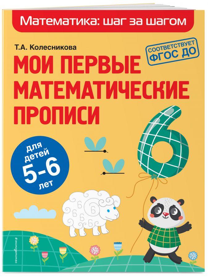 Т. А. Колесникова - Мои первые математические прописи: для детей 5-6 лет обложка книги