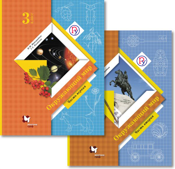 ВиноградоваН.Ф., КалиноваГ.С. - Окружающий мир. 3 класс. Учебник. В 2- х частях. обложка книги